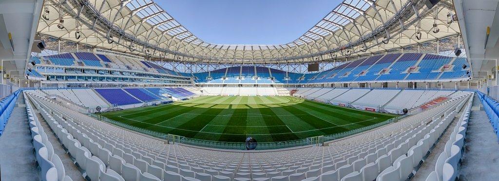 Футбольный стадион Волгоград Арена. Панорамная фотография