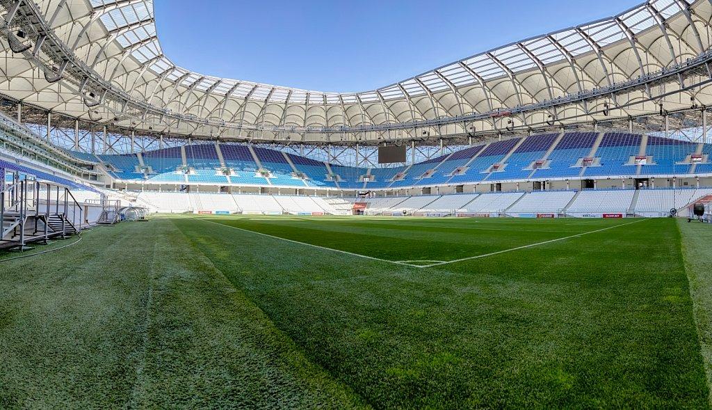 Футбольный стадион Волгоград Арена. Панорамная фотосъемка
