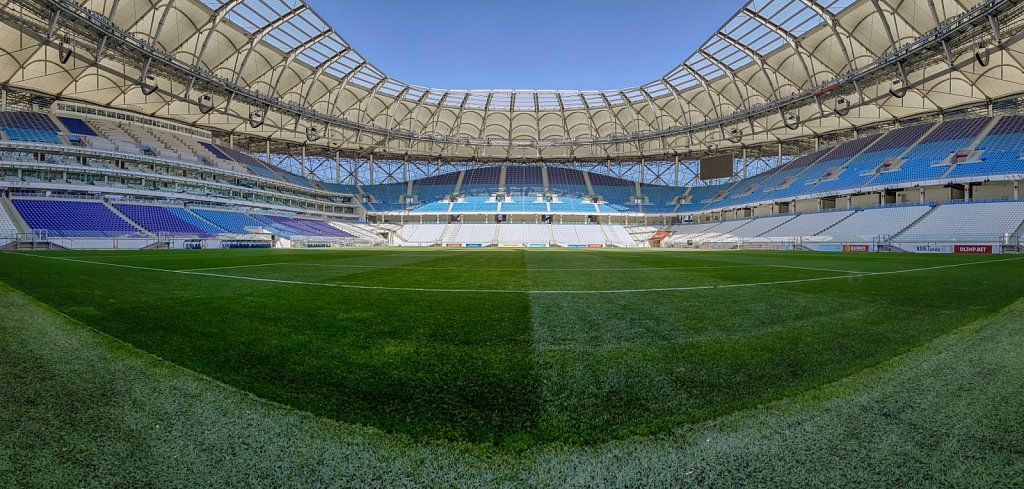 Панорамная фотосъемка футбольного стадиона Волгоград Арена.