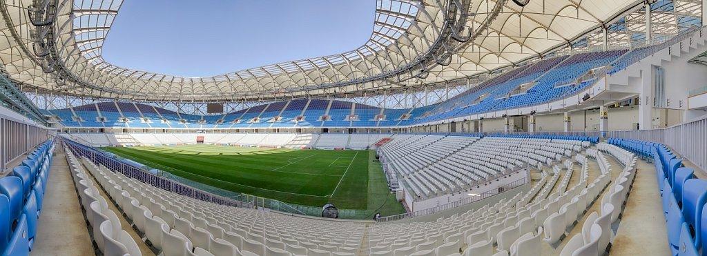Панорамная фотосъемка футбольного стадиона Волгоград Арена